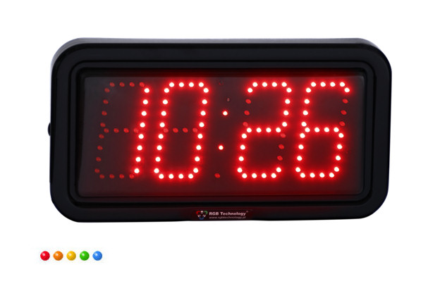 liels LED pulkstenis