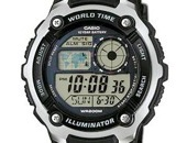 Casio Collection AE-2100W-1AVEF, 20 ATM (200m), pasaules laiks