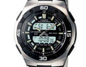 Casio Collection AQ-164WD-1AVEF  - 60 Lap Memory