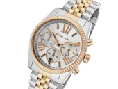 Michael Kors Lexington Tri-Tone Chronograph